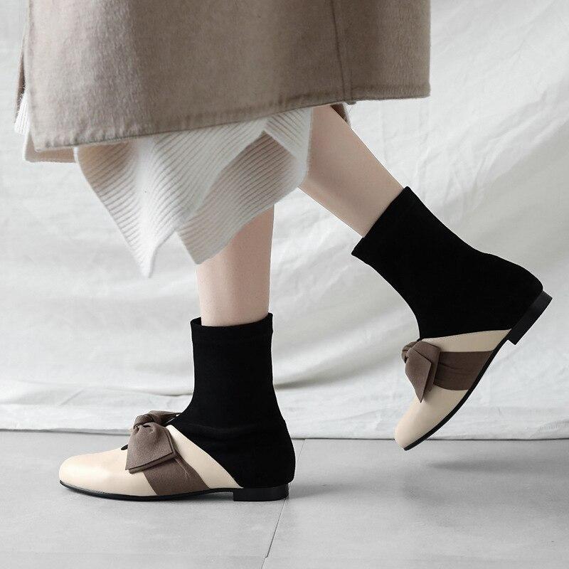 Zapatos Juego Cómodo Estilo Decoración De Otoño Nueva Mujeres Retro Color Y A Casuales Planos Suave Moda 2018 Del Arco Hq0wnSS