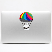 Removable fashion DIY waterproof colorful funny parachute tablet and laptop computer sticker for laptop,170*270mm