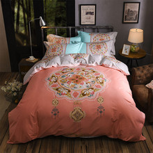 2018 NEW 100% Cotton 4PCS Bedding Set Nature Flower/Floral/Plant Print comforter cover bed linen bed sheet full king bed sets 4pcs flower print plaid bed sheet set
