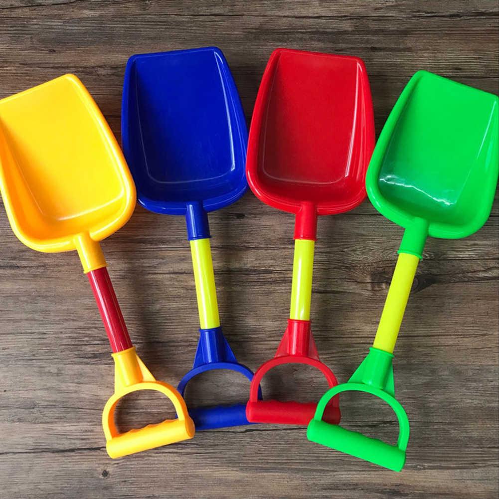 Pala para arena de juguete de playa para niños, pala de mango corto, herramienta de jardinería para cultivar el paisaje, pala de plástico de colores al azar para niños