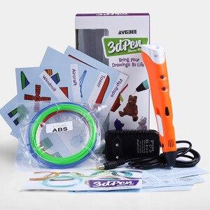 Image 2 - 3D Stift Modell 3 D Drucker Zeichnung Magie Druck Stifte Mit 100/200M Kunststoff ABS Filament Schule Liefert für Kid Geburtstag Geschenke