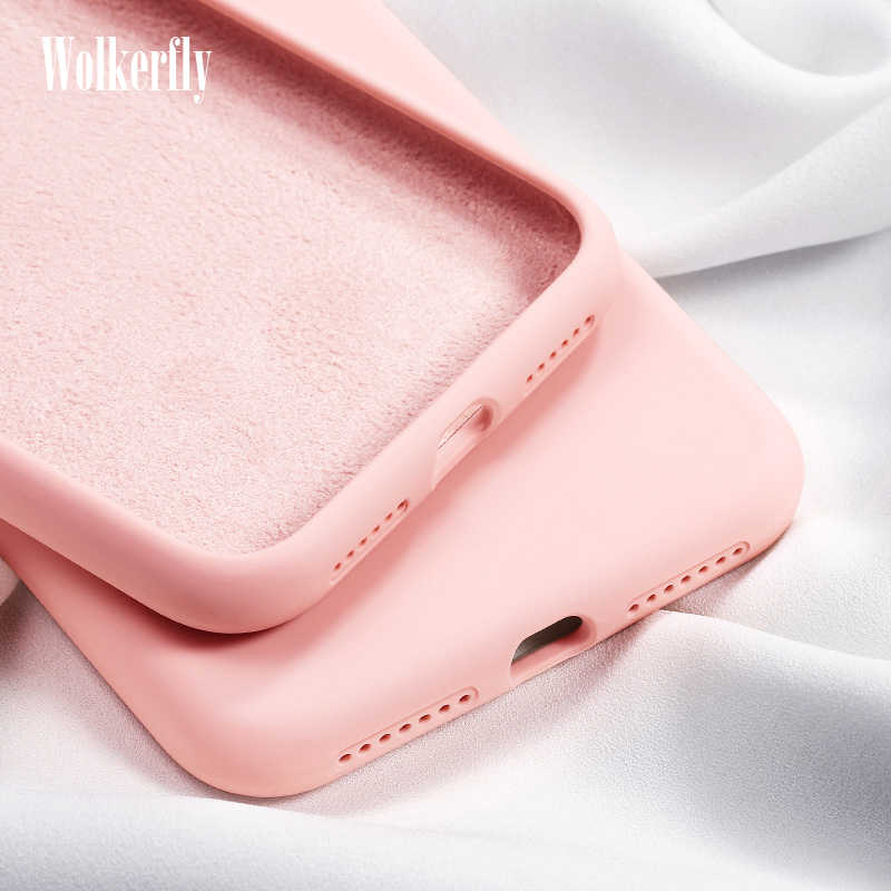 Case For Huawei Y6 Y7 2019 P10 P20 P30 Mate 20 Lite Honor 20 Pro 8X 10 10i 9 Lite Nova3 3i 4 P Smart Plus Liquid Silicone Case