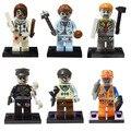 Мини Зомби the Walking Dead рисунок Строительный Блок Кирпич Игрушки Совместимые с Lego Фигурку Модели Decool 601-606