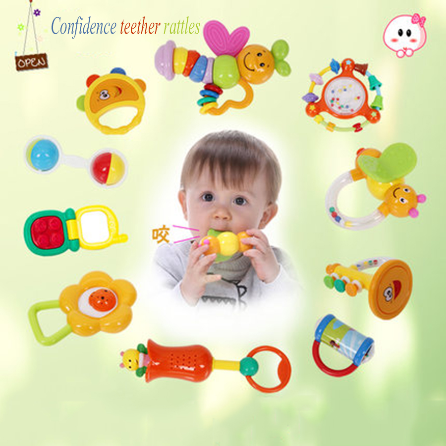 Cartoon Newborn Baby Toy Rattle 0-12 Months Musical Children Educational Toy Baby Speelgoed Stroller Mobility On The Bed 70C0129