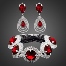 Indian Rhinestone Bracelet and Earrings