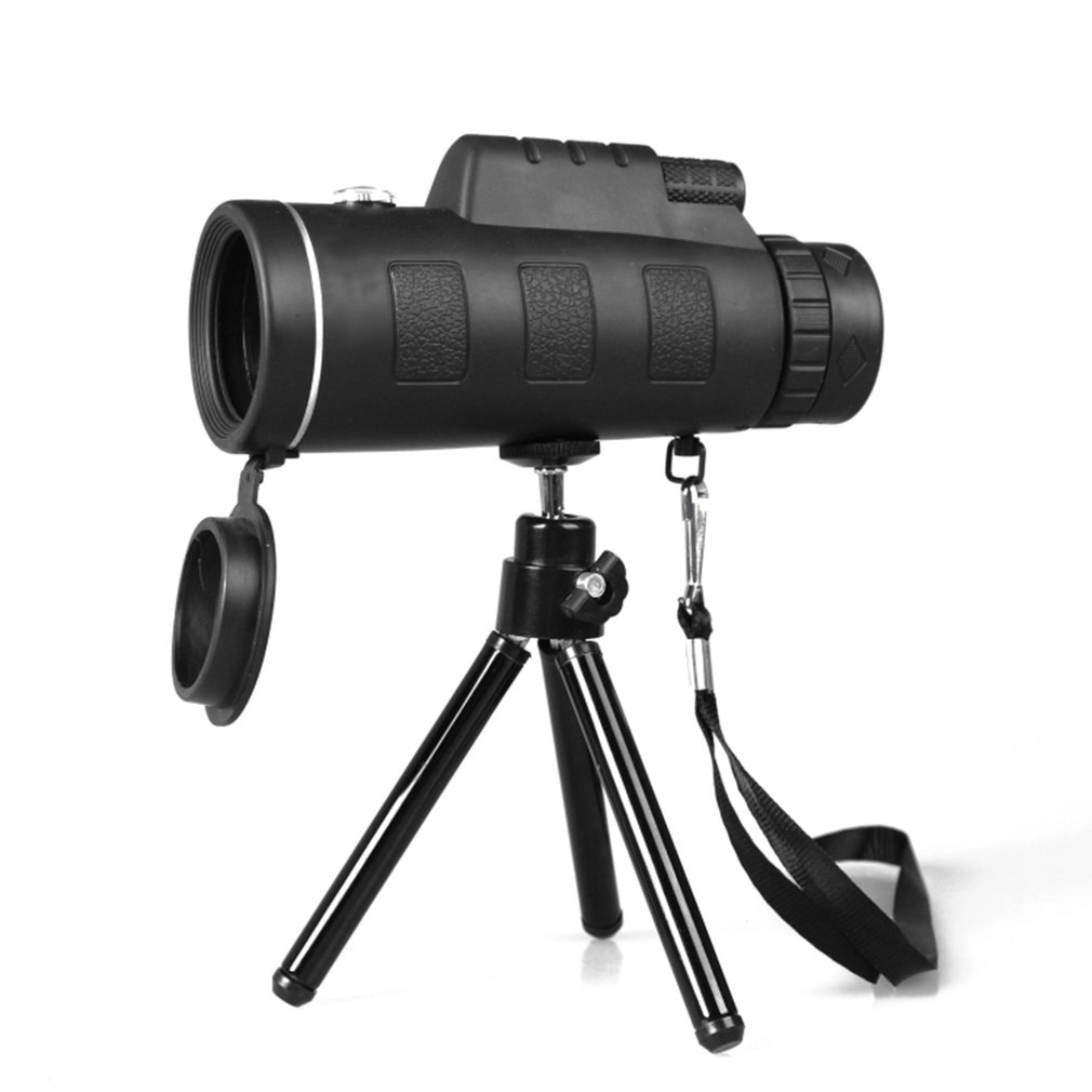 OUTAD Monocular Telescope Wide Angle HD Night Vision Prism Scope With Compass Phone Clip Tripod Outdoor Portable Telescope