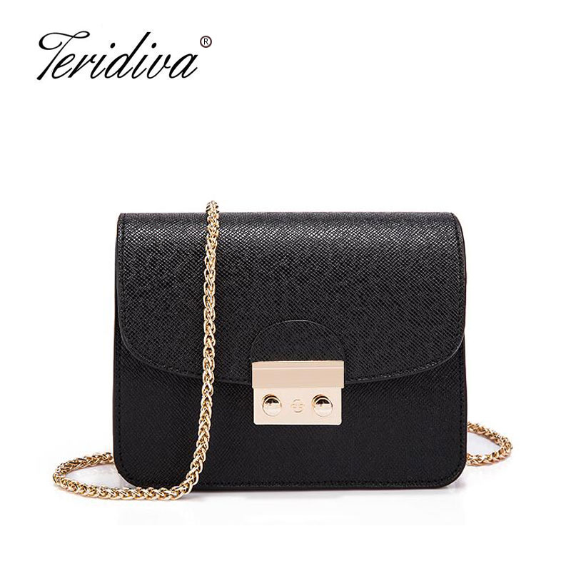 Teridiva Women Bags Fashion Brand Famous Designer Mini Shoulder Bag Woman Chain Crossbody Bag Messenger Handbag Bolso Purse vintage fashion letter book shape pu purse daily clutch bag ladies shoulder bag chain handbag crossbody mini messenger bag