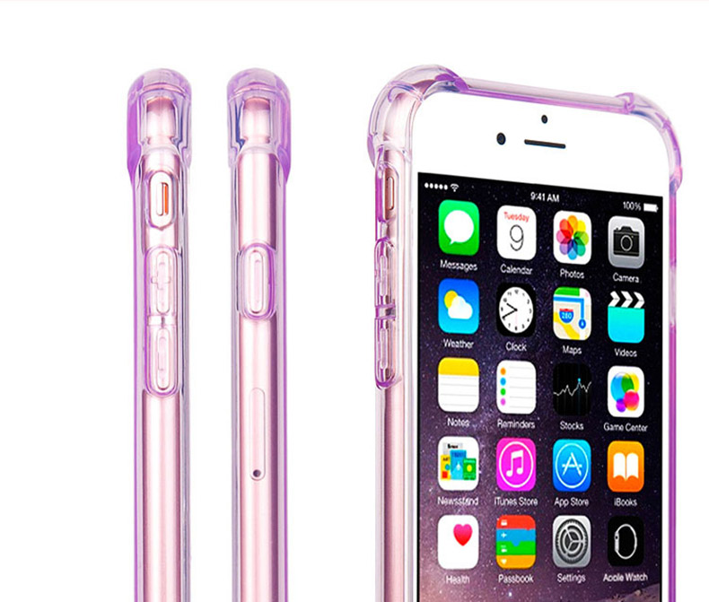 Soft Silicone Transparent Bumper Phone Case For iPhone SE 2020 X XS 6S 8 Plus Cover 8
