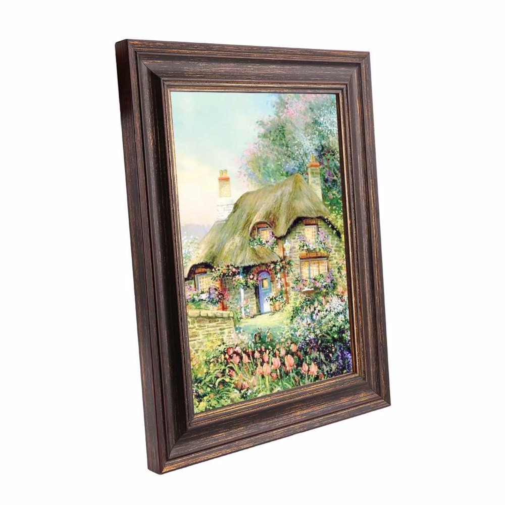hot shabby chic distressed wood effect picture poster photo frame a3 size polystyrene safety glass protective