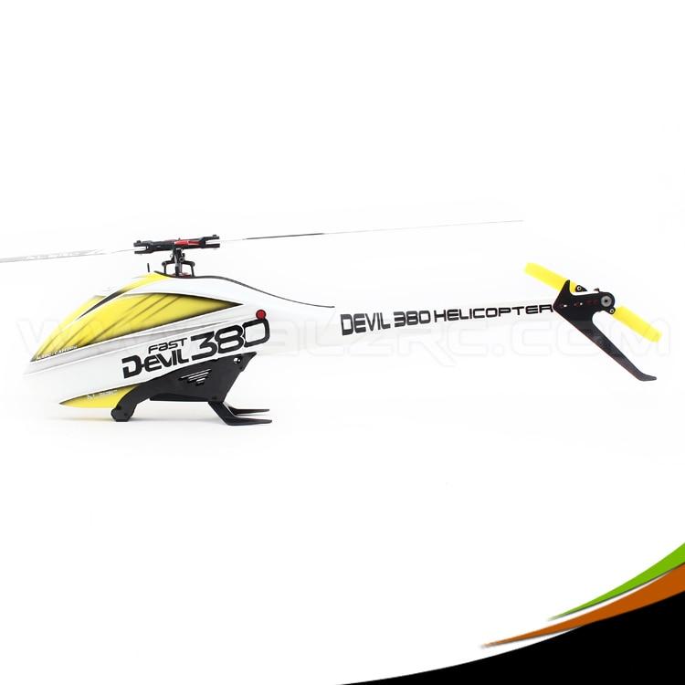 ALZRC - Devil 380 Helicopter Parts 380 FAST FBL KIT - Black alzrc devil 380 fast fiberglass painting canopy set s a s b