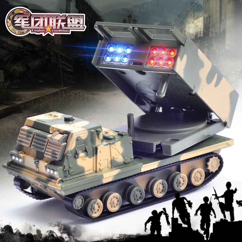 Fun child toy missile launch vehicle alloy simulation toy missile launching vehicle assembly model children education toy car