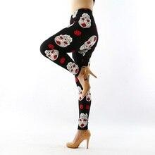 d10 fashion womens bottoms high elastic pants capris comfortable plus leggings american style popular print free shipping xxxxxl