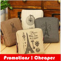 New 2015 Creative Coin Purses  Paris Vintage Unisex Wallets Canvas Retro Gift Wallets Small Purse Coin Bag