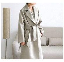 Фотография 2017 new arrive women woolen long jacket CD60587