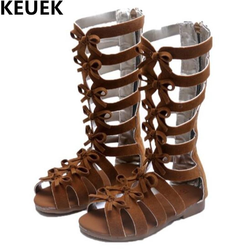New Summer Gladiator Shoes Baby Children Sandals Girls Open Toe Princess Beach Shoes Kids Gaotong Sandals 019 ...