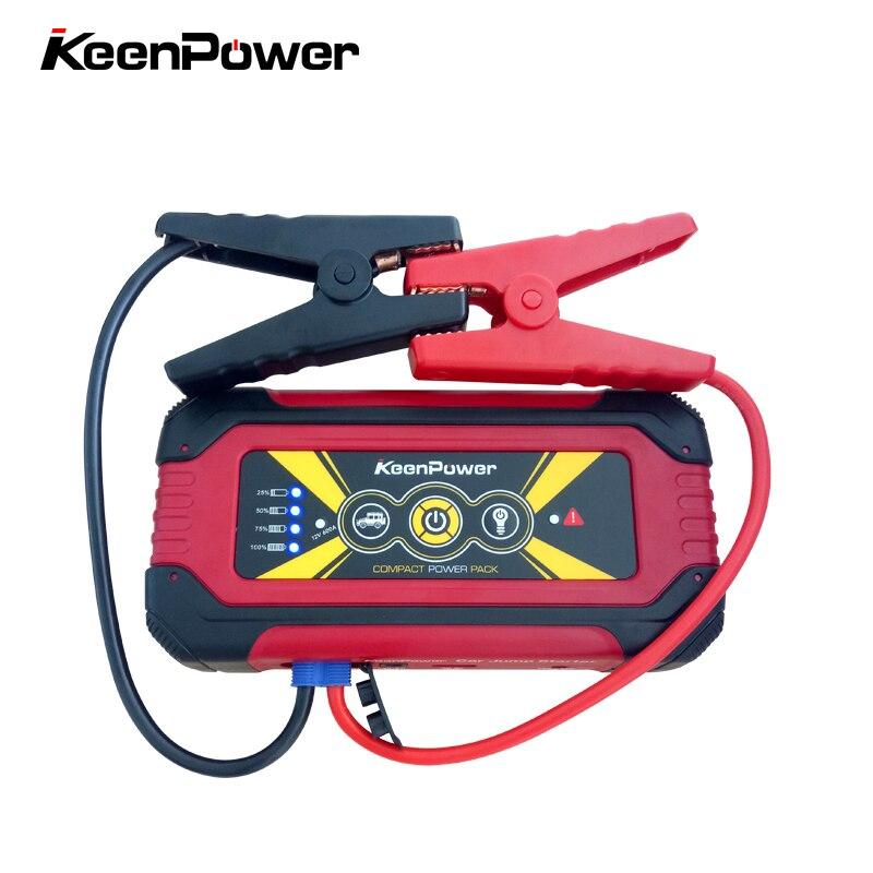 Keenpower High capacity Portable 12V 600A/900A Car Power Battery Booster Buster Petrol Diesel Car-Stlying Car Jump Starter
