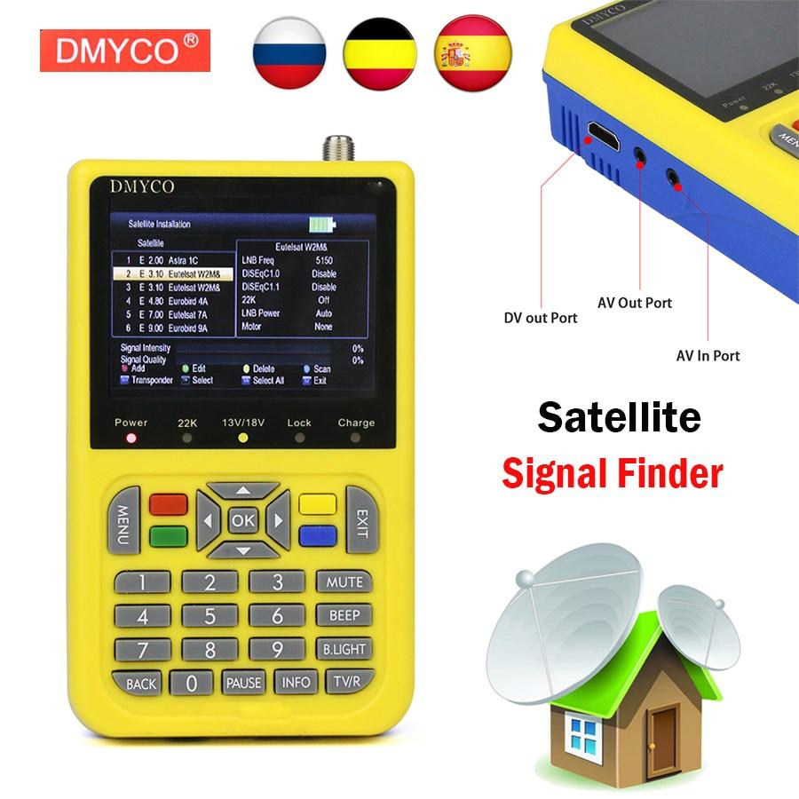 DMYCO Sat Finder DVB S2 DVB S FTA Digital Satellite Satfinder Meter HD Satellite Finder Tool