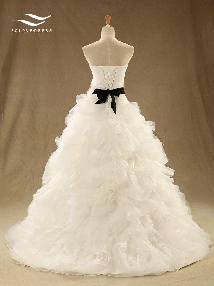 Custom Made Elegant Sweetheart Ball Gown Wedding Dress with Sash and ...
