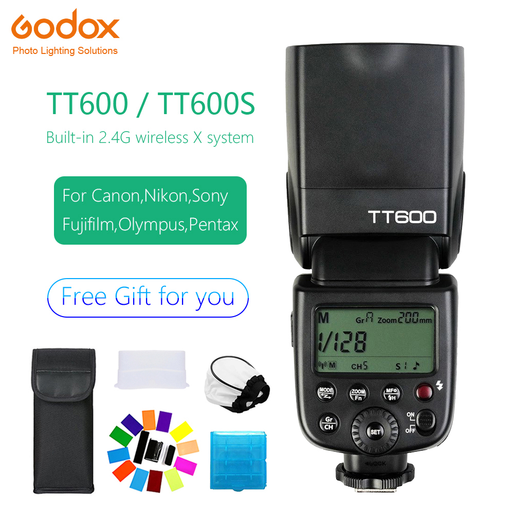 Universal Flash Speedlite Godox TT600 TT600S 2.4G Wireless Hot shoe flash GN60 For Canon Nikon Sony Pentax Olympus Fujifilm