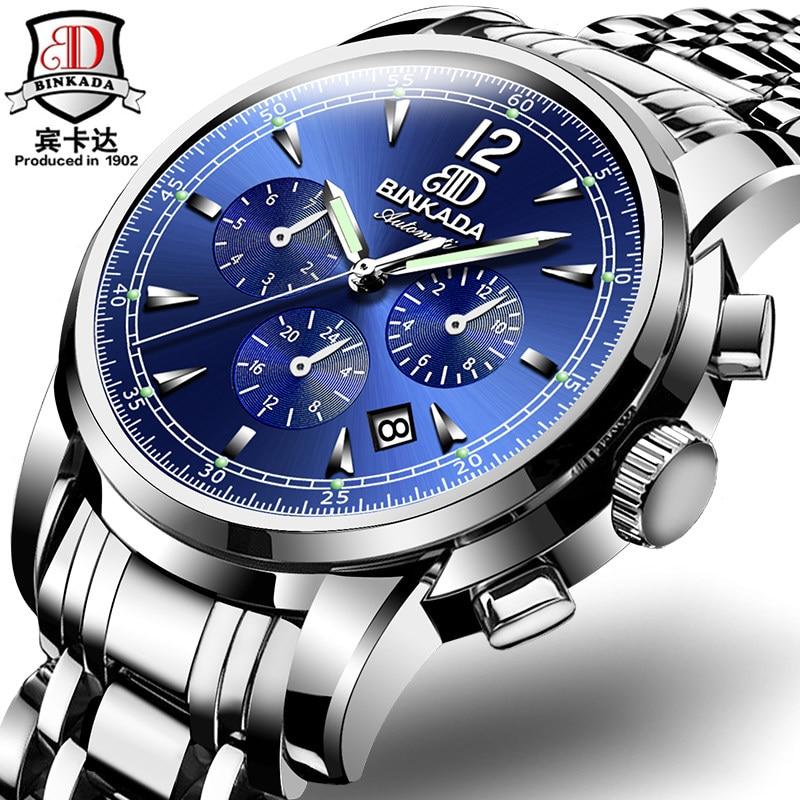 Switzerland Brand Watch font b Mechanical b font Watches Tourbillon design stainless steel Full automatic watch