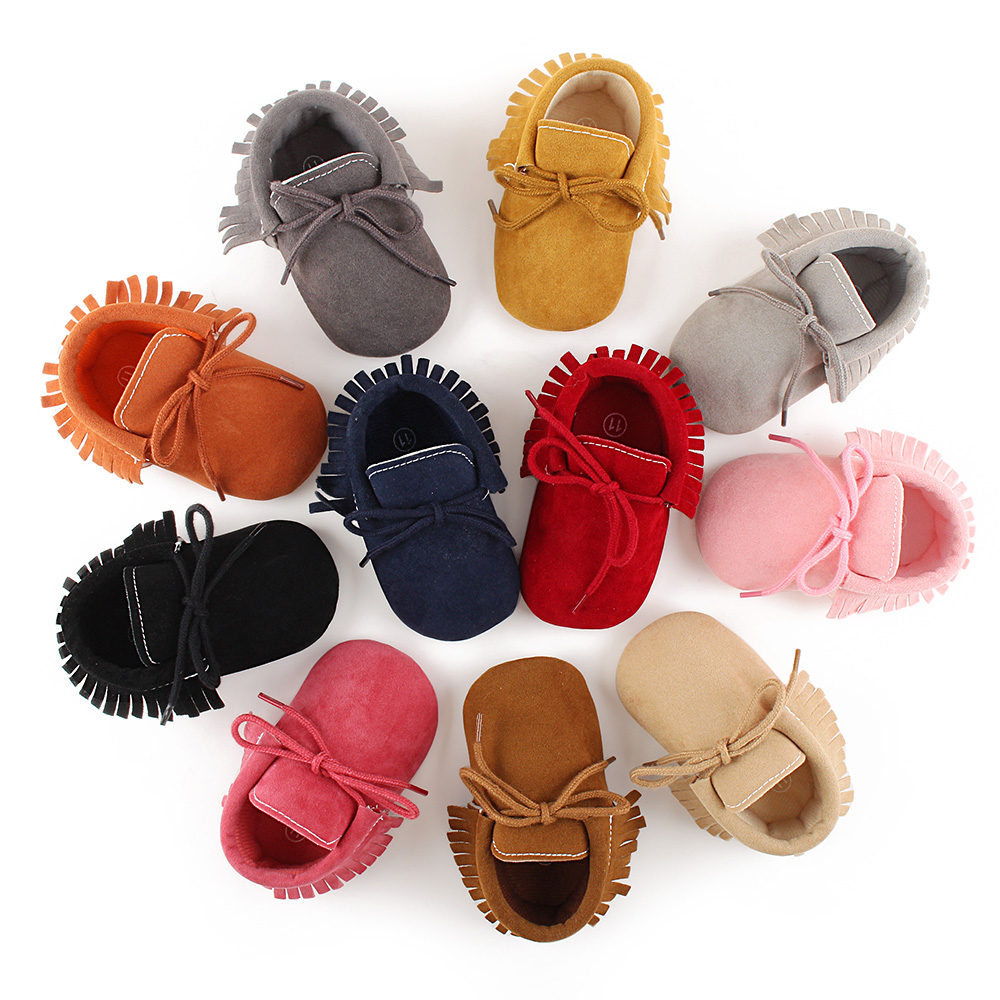 e955465dc5e7 Delebao New Design Tassel Style Baby Shoes Grind Arenaceous Tassel Style  Infant Toddler Baby Lace-up Boots Wholesale