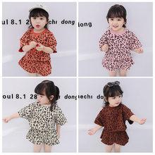 56a8ff4aa الطفل 2019 أربعة ألوان الكورية النسخة اثنين قطعة للبنات مجموعة ملابس طفل  فتاة ملابس الطفل فتاة ملابس الصيف طفل الزي