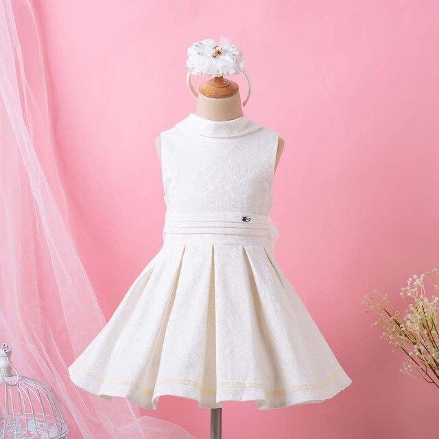 78fe5fba8 Pettigirl 2019 Creamy White Baby Dress For Girls Fashion Backless ...