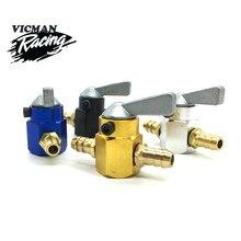 Interruptor de combustível inline para motocicleta, interruptor de gasolina interno de 6mm 8mm