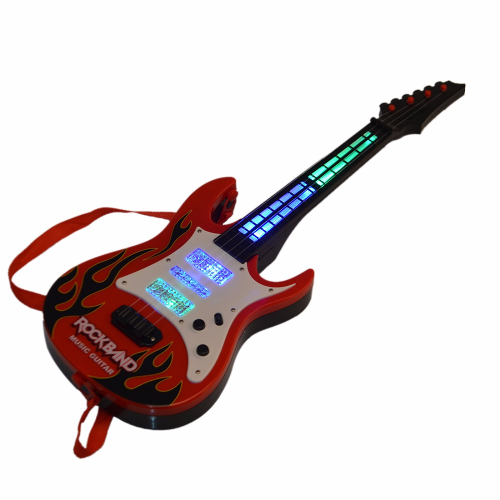 Surwish-Rock-Band-Music-Electric-Guitar-4-Strings-Kids-Musical-Instruments-Educational-Toy-2