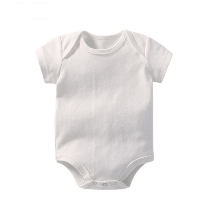 100% Cotton Baby Bodysuits White Color Boy Girl Jumpsuit Infant Clothing Creppers Body Baby Rumper Suit For 0-24M