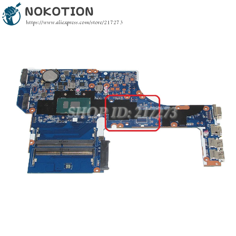 NOKOTION DAX63CMB6C0 System Board For HP Probook 450 G3 Laptop Motherboard 15.6 inch SR2EZ i7-6500U CPU DDR3L