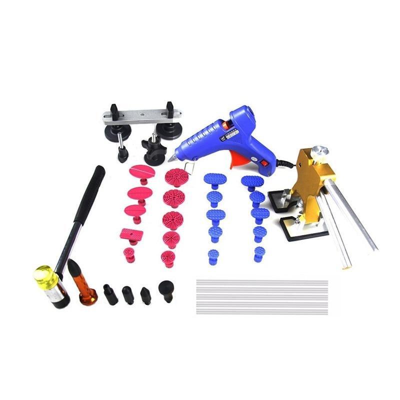 ФОТО Car Dent Repair Kit set  PDR Dent Lifter Glue Gun100W+20x Glue pulling tabs Hail Repair Tool Kits PDR Starter Kit Dent Removal