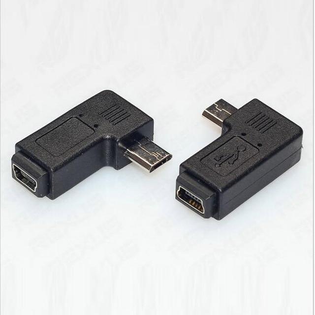 Micro Usb Male To Mini Usb Female 90 270 Degree Angle Converter
