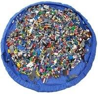 Practical Portabe Large Capcity Nylon Bag Rug Pocket Play Mat For Storage Of Kids Children Toys