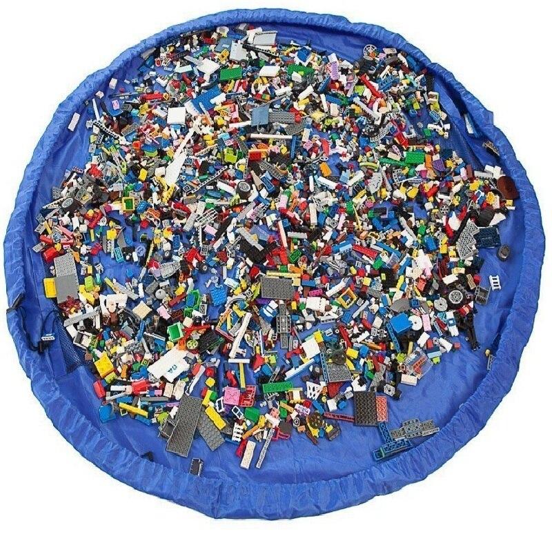 Waterproof nylon storage bag Large Toy storage organizer Le go mat Play mat Kid children toddler toys Sundries storage bags