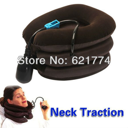 New Hot Selling Air Cervical Neck Traction Massager Soft Brace Device Unit Gift Wholesale Free Shipping