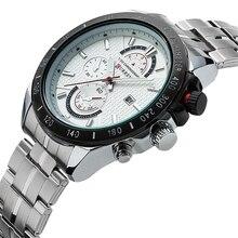 Marca de lujo de Alta Calidad Reloj de Cuarzo de Negocios Hombres Reloj de Acero Llena Masculino Relogio masculino 2016 Caliente