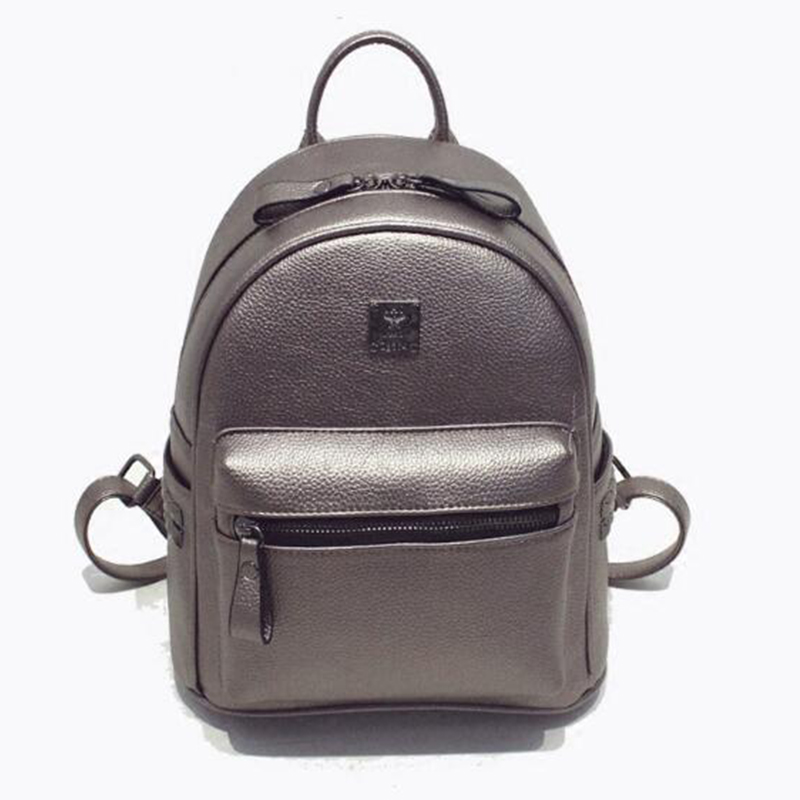 Rivet Backpack Women s Backpacks PU Leather Backpack Female Trendy Designer School Bags Teenagers Girls Travel