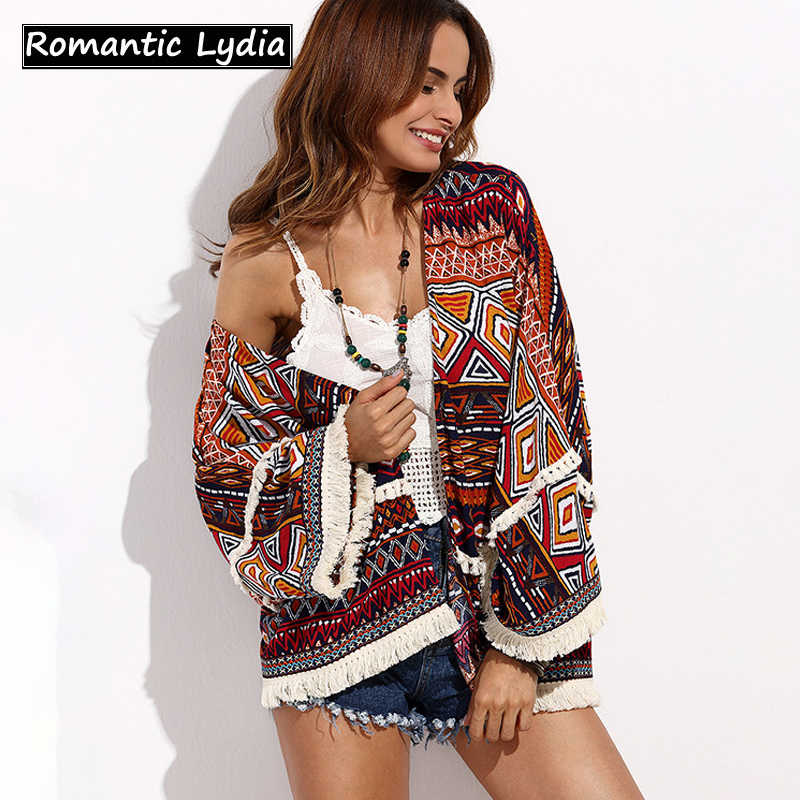f3d16d64cc6ac 2018 Summer Long Cardigan Flare Sleeve Tassel Decorated Shirt Plus Size  Women Tops Kimono Blouse Top