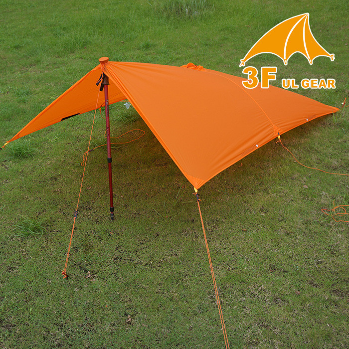 3F UL GEAR Single Person Ultralight Hiking Cycling Raincoat Outdoor Awning Camping Mini Tarp Sun Shelter 15D Silicone 5