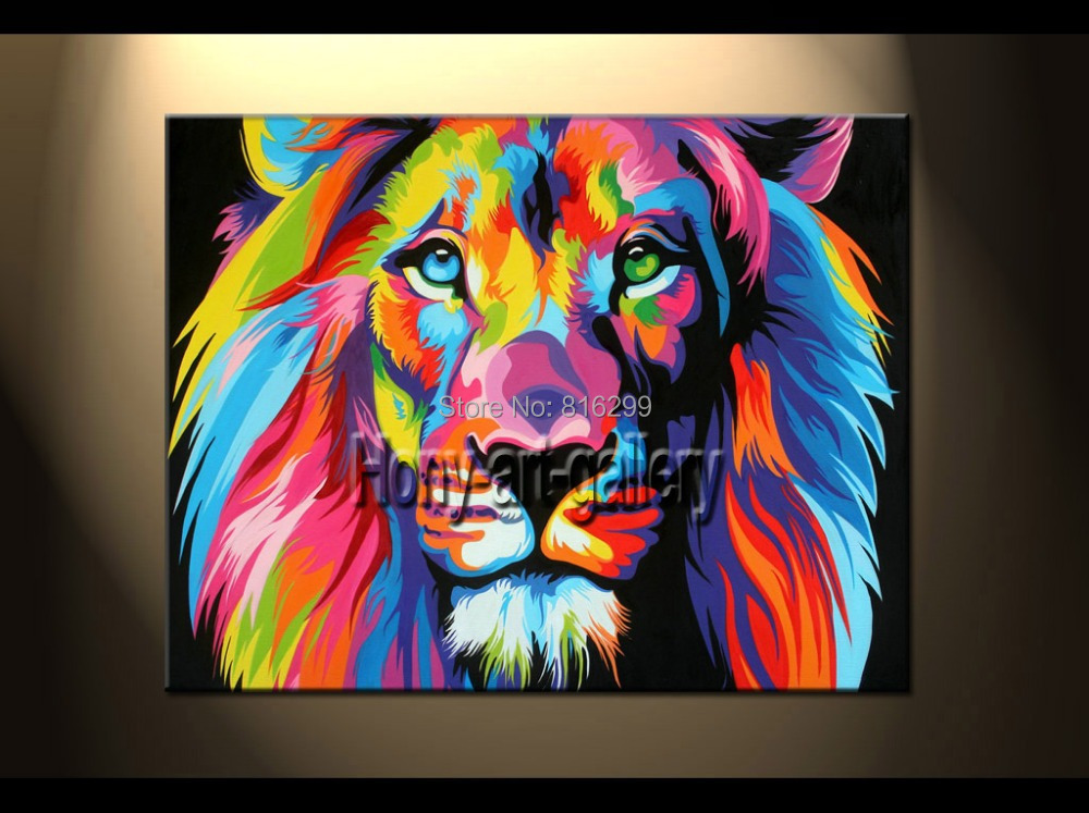 100% Handpainted Modern Animal Oil Painting Canvas Wall