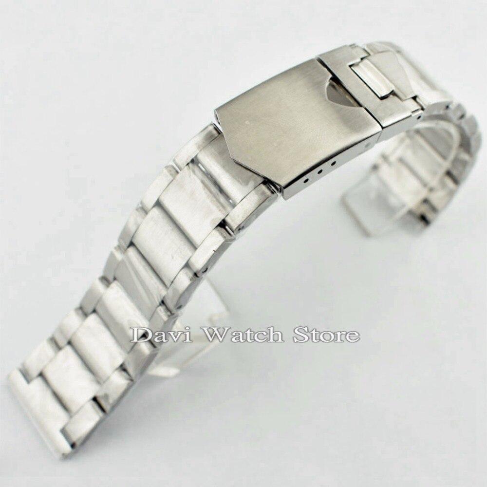 BRACELET de montre en acier inoxydable solide CORGEUT 316L de 22 MM