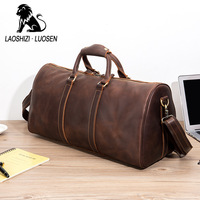 Genuine Travel Bag Men Leather Hand Luggage For Men New Fashion Duffle Bag Large Capacity Casual Messenger Crossbody Bag Pakeage