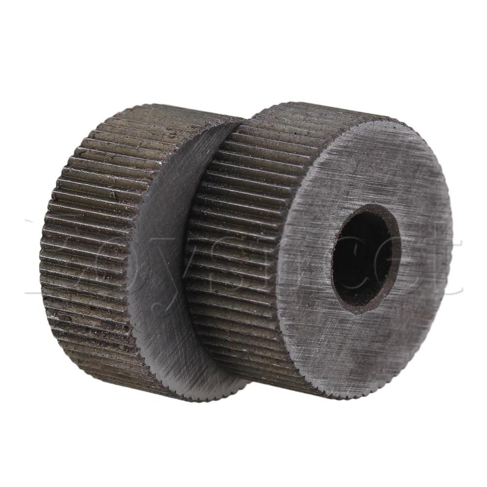 2 Piece 0.8mm Pitch 19mm OD Single Straight Coarse Pattern Linear Knurling Wheel