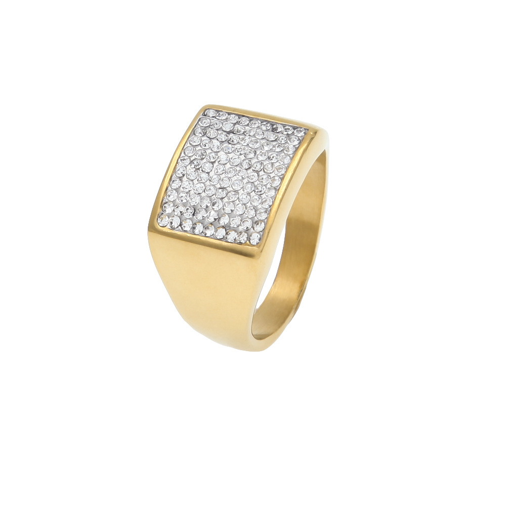 316 L Stainless Steel high quality Men gold color hip hop ring iced out  bling fashion rings for party-in Rings from Jewelry   Accessories on  Aliexpress.com ... 57c81768cacf