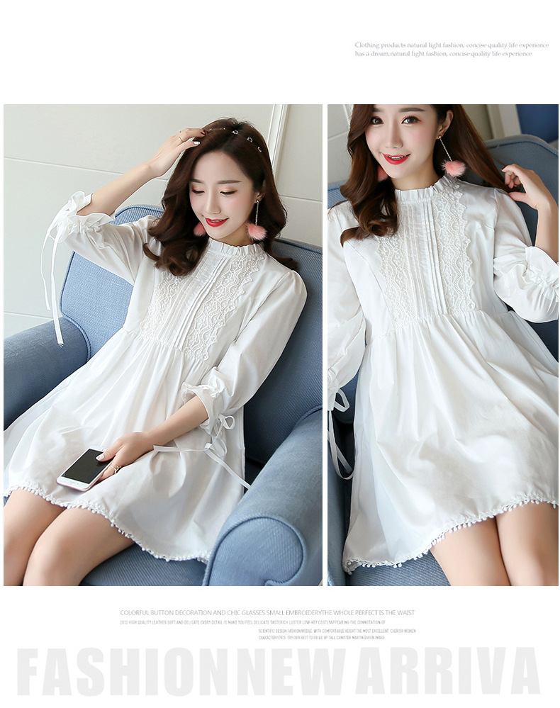 2017 summer maternity dresses lace crochet fashion dress for 2017 summer maternity dresses lace crochet fashion dress for pregnant women loose plus size white dress in dresses from mother kids on aliexpress ombrellifo Image collections
