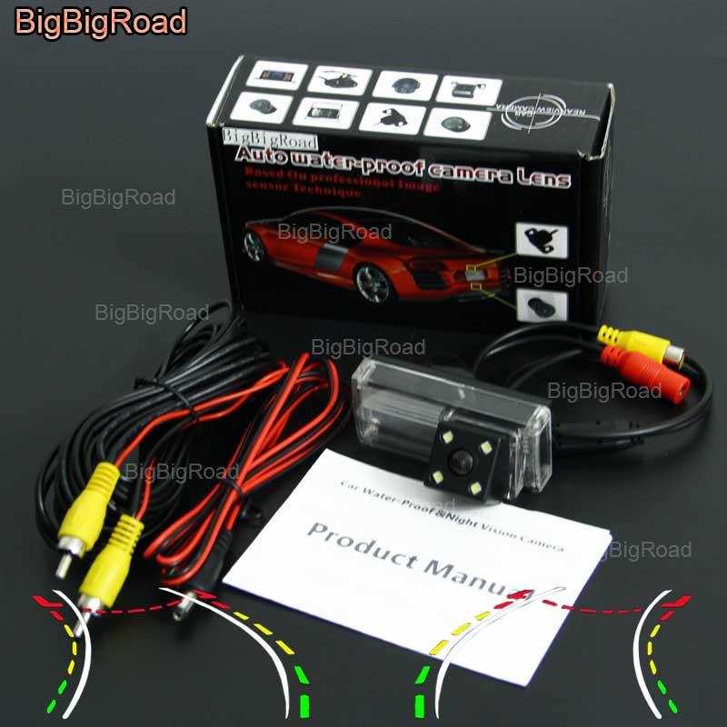 BigBigRoad voiture intelligente dynamique piste vue arrière caméra pour Toyota Land Cruiser 200 2015 LC200 LC100 LC120 Prado