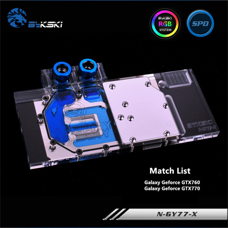 купить Bykski Full Coverage GPU Water Block For Galaxy GTX760 GTX770 Graphics Card N-GY77-X онлайн