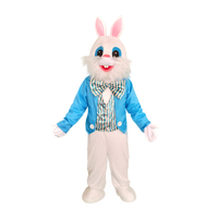 Party Easter Bunny Mascot Costume Rabbit Cartoon Character Fancy Cosplay Dress
