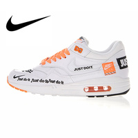 Nike Air Max 1 Just Do It Men's Running Shoes Original Authentic Sport Outdoor Sneakers Comfortable Durable Breathable 917691